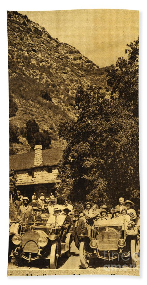 Tassajara Hot Springs Bath Sheet featuring the photograph Tassajara Hot Springs Monterey County Calif. 1915 by California Views Archives Mr Pat Hathaway Archives