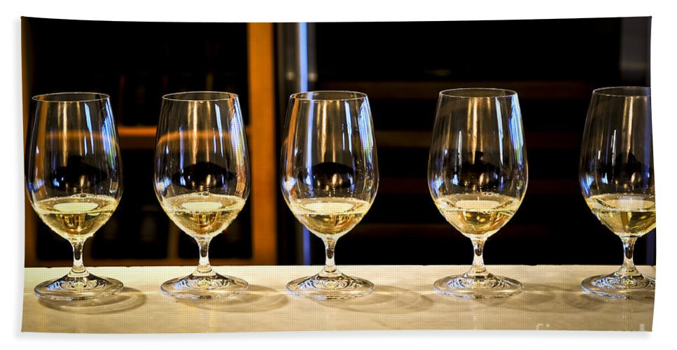 Wine Bath Sheet featuring the photograph Tasting Wine by Elena Elisseeva