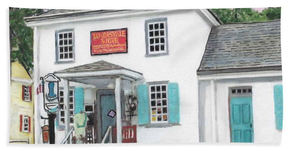 Architecture Bath Sheet featuring the painting Taylorsville Store by Cliff Wilson