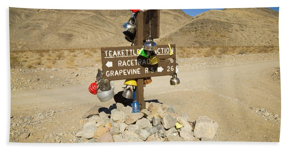 00431203 Bath Towel featuring the photograph Teakettle Junction in Death Valley by Yva Momatiuk and John Eastcott