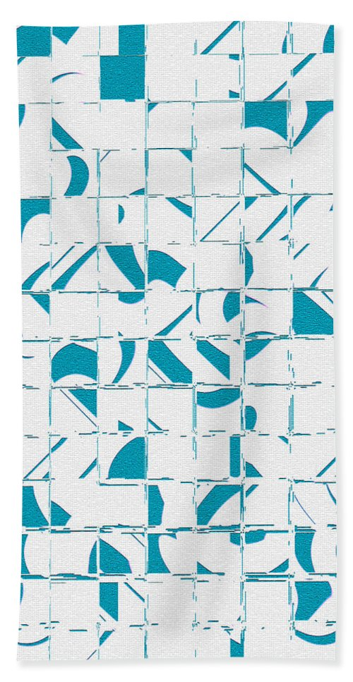 women's Fashion girl's Fashion fashion Design Fashion Design abstract Art Abstract Bath Sheet featuring the photograph Teal Glyphs by Bill Owen