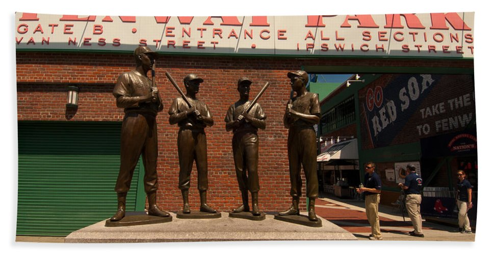 Fenway Park Hand Towel featuring the photograph Teammates by Paul Mangold