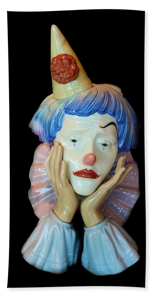 Clown Hand Towel featuring the photograph Tears Of A Clown by Carlos Diaz