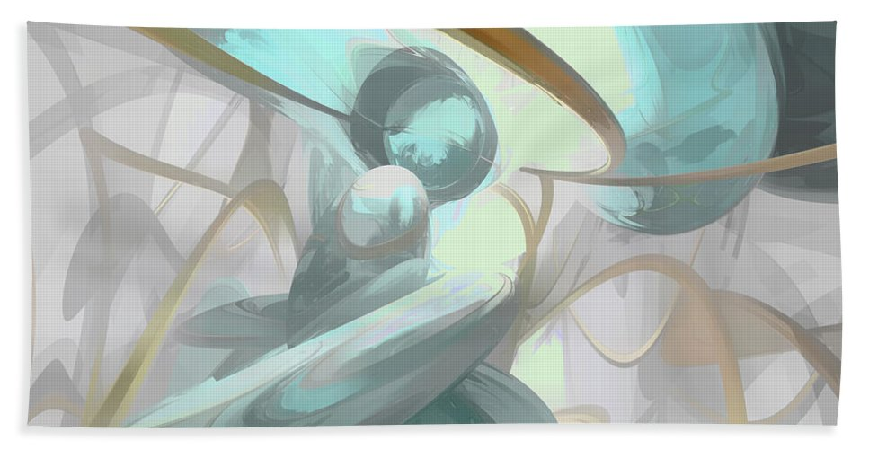 3d Hand Towel featuring the digital art Teary Dreams Pastel Abstract by Alexander Butler
