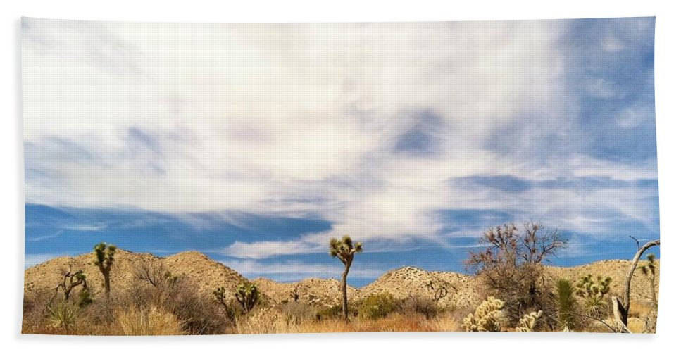 Yucca Valley California Bath Sheet featuring the photograph Joshua Beauty by Angela J Wright