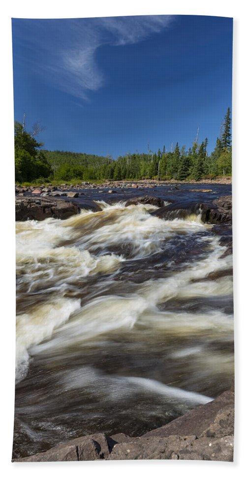Water Bath Sheet featuring the photograph Temperance River 4 by John Brueske