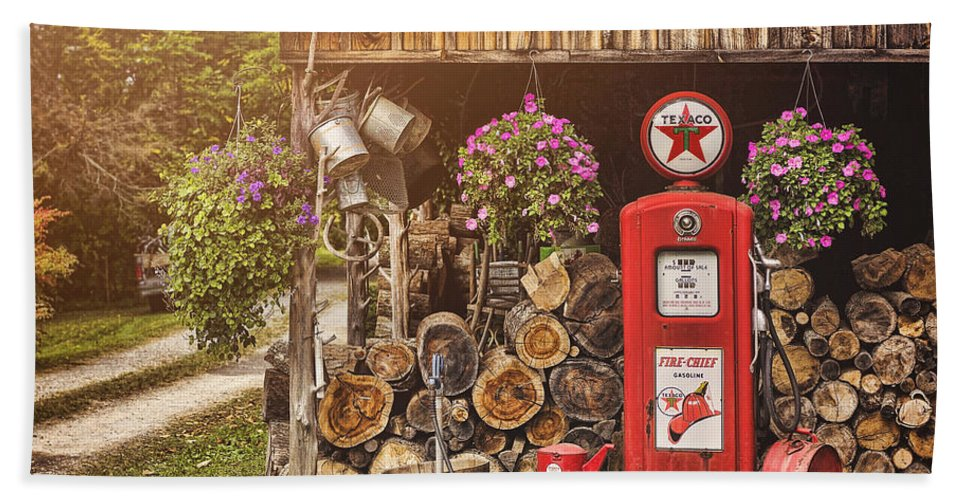 Gas Pump Bath Sheet featuring the photograph Ten Cents A Gallon by Heather Applegate