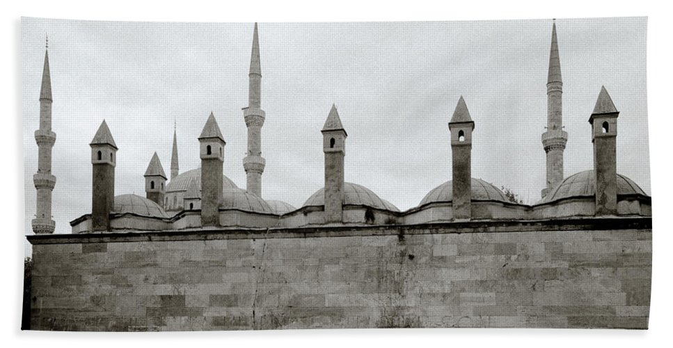 Istanbul Hand Towel featuring the photograph Ten Minarets by Shaun Higson