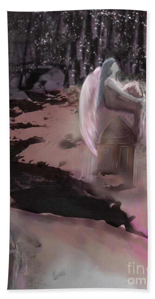 Fantasy Bath Sheet featuring the digital art The Great Mystery by Cyndy DiBeneDitto