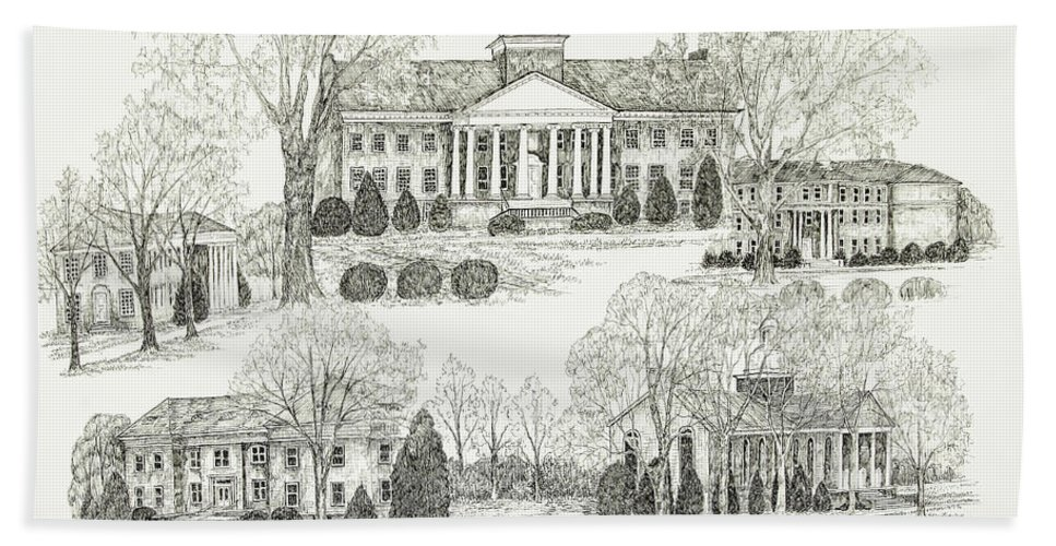 Illustrations Hand Towel featuring the digital art Tennessee Technological University by Jessica Bryant