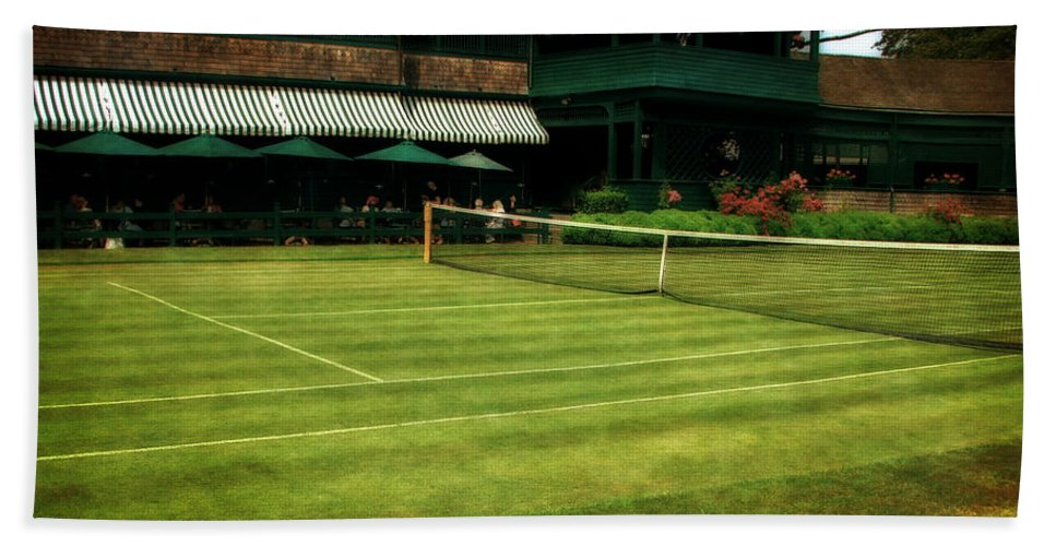 Tennis Court Bath Sheet featuring the photograph Tennis Hall Of Fame 2.0 by Michelle Calkins