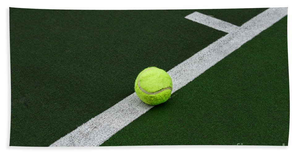 Paul Ward Hand Towel featuring the photograph Tennis - The Baseline by Paul Ward