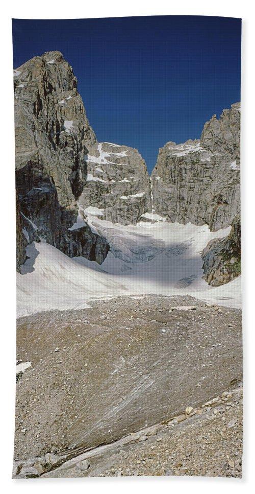 Teton Glacier Bath Sheet featuring the photograph 1m9385-teton Glacier by Ed Cooper Photography
