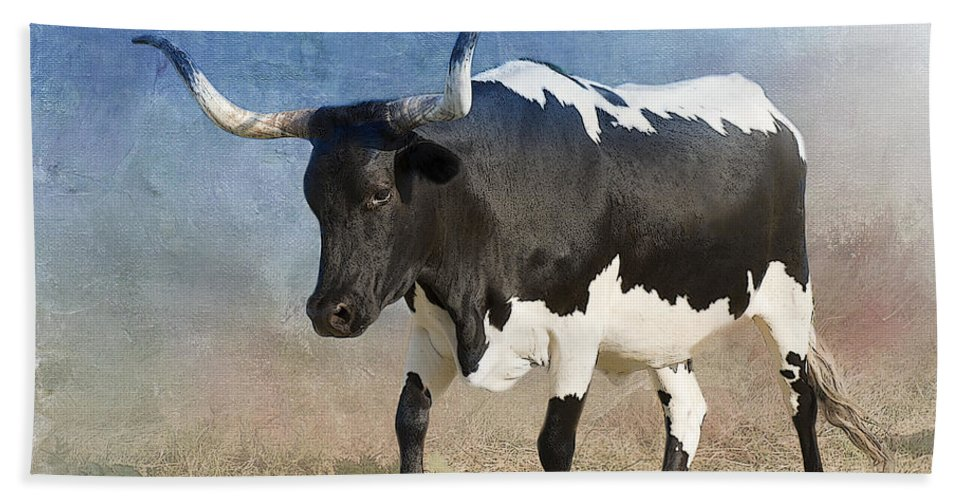 Texas Longhorn Hand Towel featuring the photograph Texas Longhorn #7 by Betty LaRue