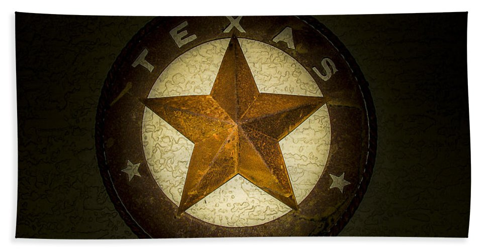 Texas Hand Towel featuring the photograph Texas Star by Fred Adsit