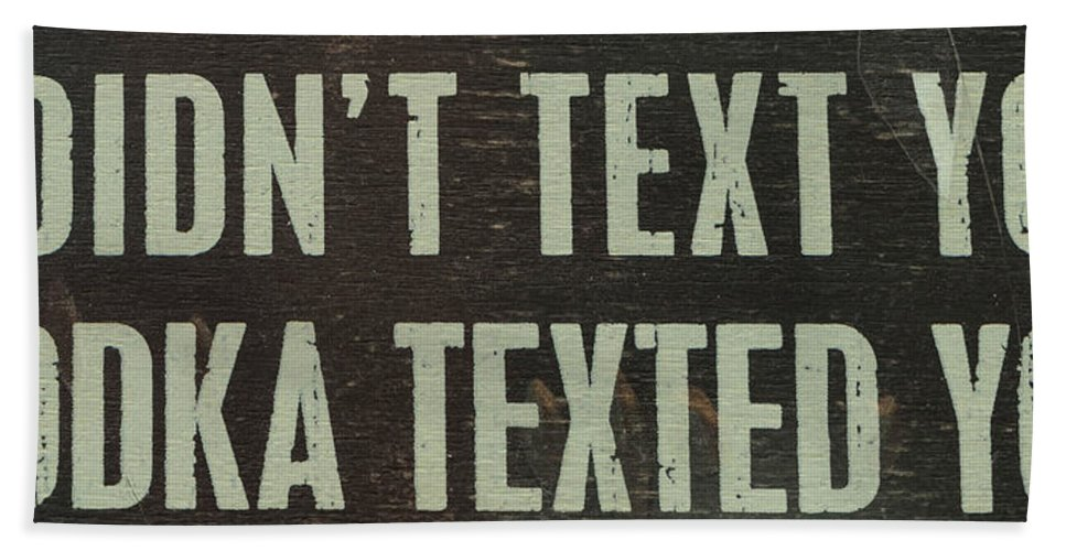 Text Hand Towel featuring the photograph Texting by Brigitte Mueller