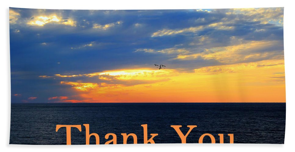 Sold Bath Sheet featuring the photograph Thank You by Shelley Neff