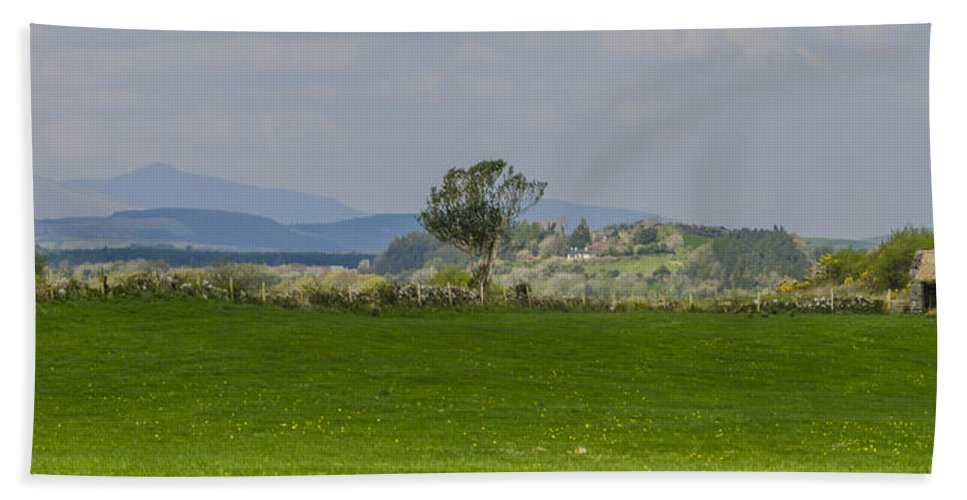 Thatched Bath Sheet featuring the photograph Thatched Roof - County Mayo Ireland by Bill Cannon
