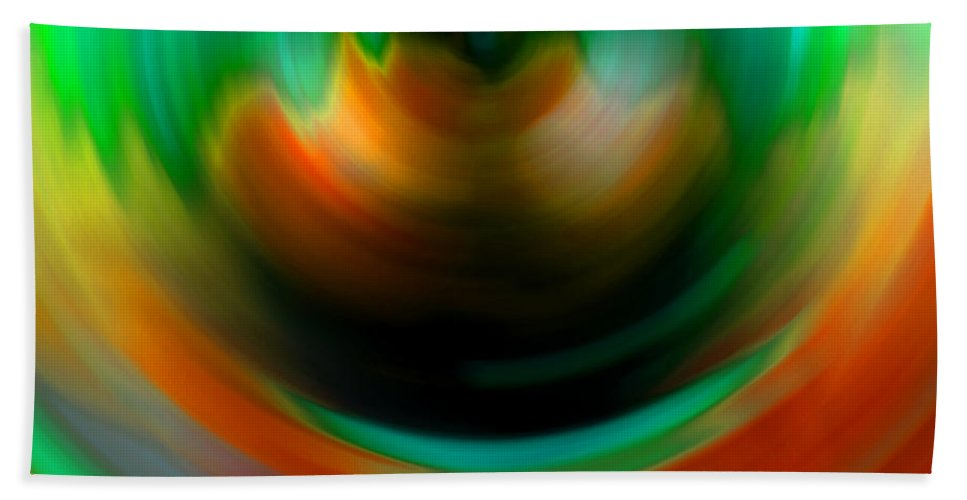Vortex Hand Towel featuring the digital art The #2 Brat Angel Influence by Marcello Cicchini