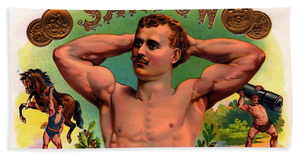 Sandow Hand Towel featuring the photograph The Amazing Sandow by John Madison