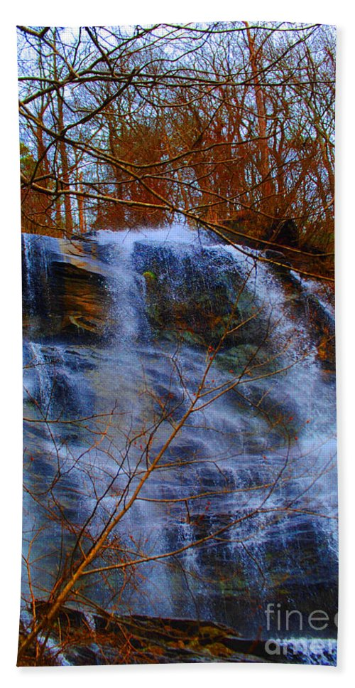 Nature Bath Sheet featuring the photograph The Amicalola Waterfall by Jost Houk