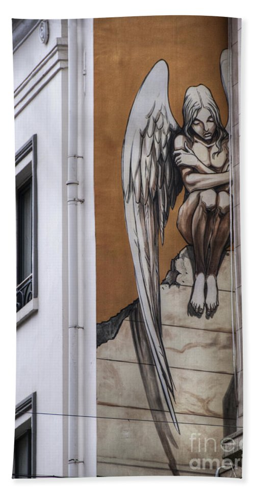 Architectural Feature Bath Towel featuring the photograph The Angel by Juli Scalzi