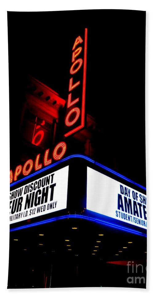 Nyc Hand Towel featuring the photograph The Apollo Theater by Ed Weidman