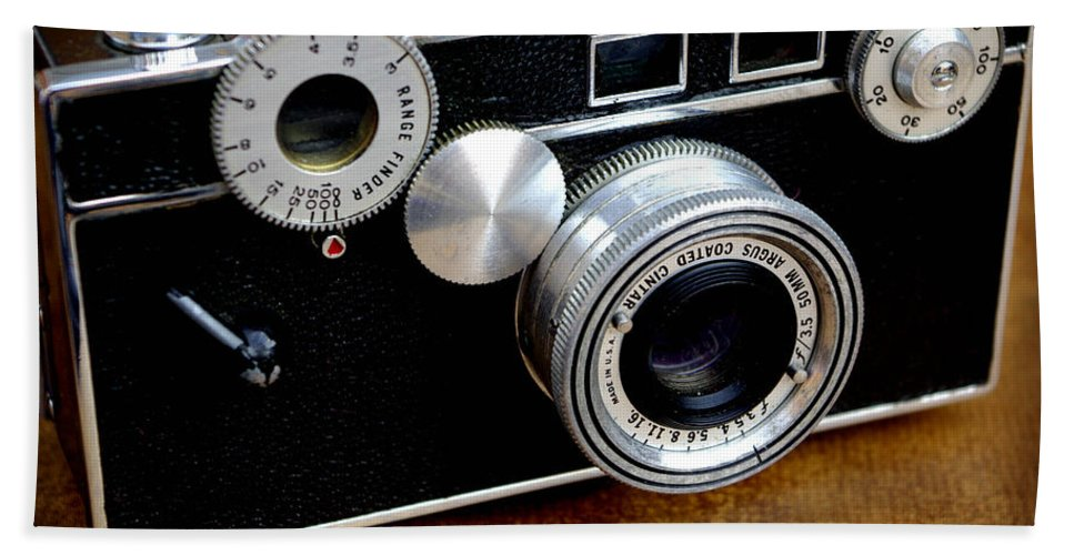 Camera Hand Towel featuring the photograph The Argus C3 Lunchbox Camera by James C Thomas