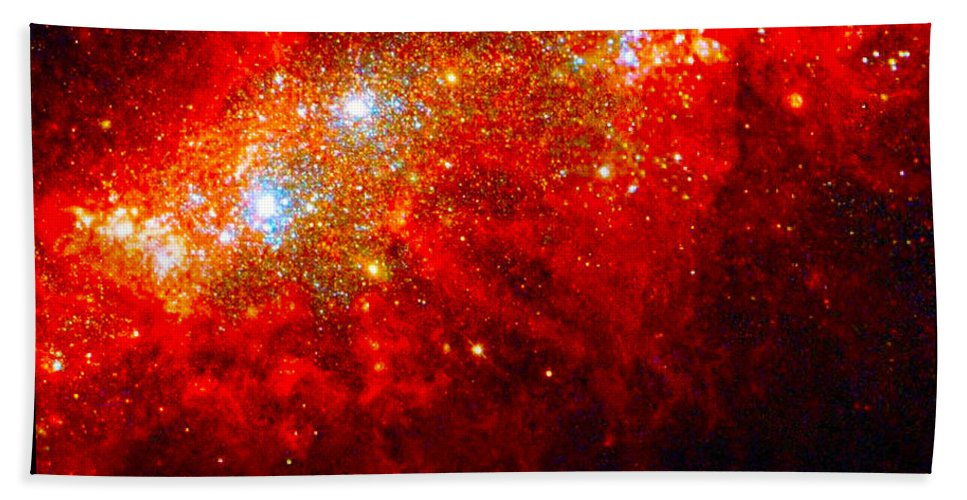 Outer Space Three Zero Six Bath Sheet featuring the digital art The Art Of The Universe 309 by The Hubble Telescope