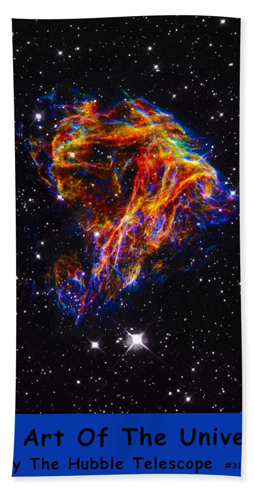 Outer Space Three Zero Six Bath Sheet featuring the digital art The Art Of The Universe 310 by The Hubble Telescope