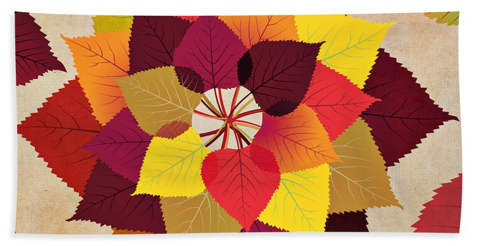 Fall Hand Towel featuring the digital art The Artistry Of Fall by Angelina Vick
