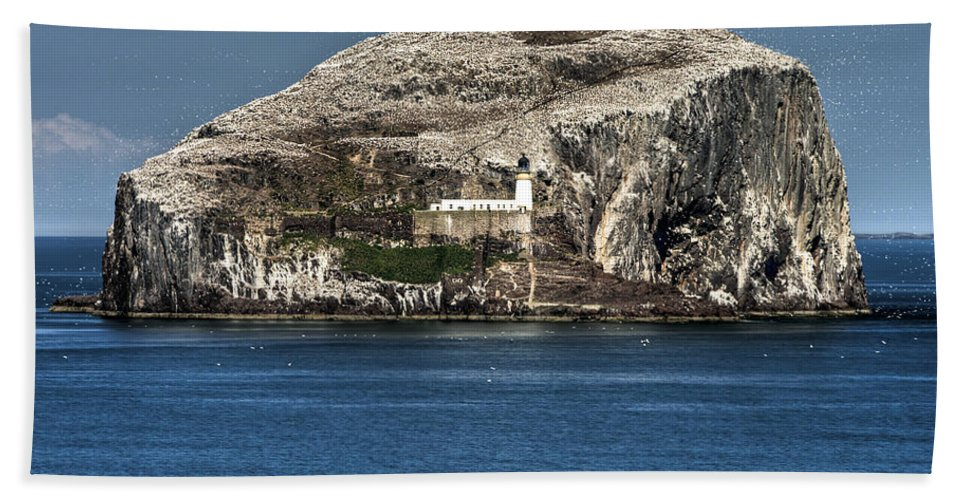 Bass Hand Towel featuring the photograph The Bass Rock by Ross G Strachan