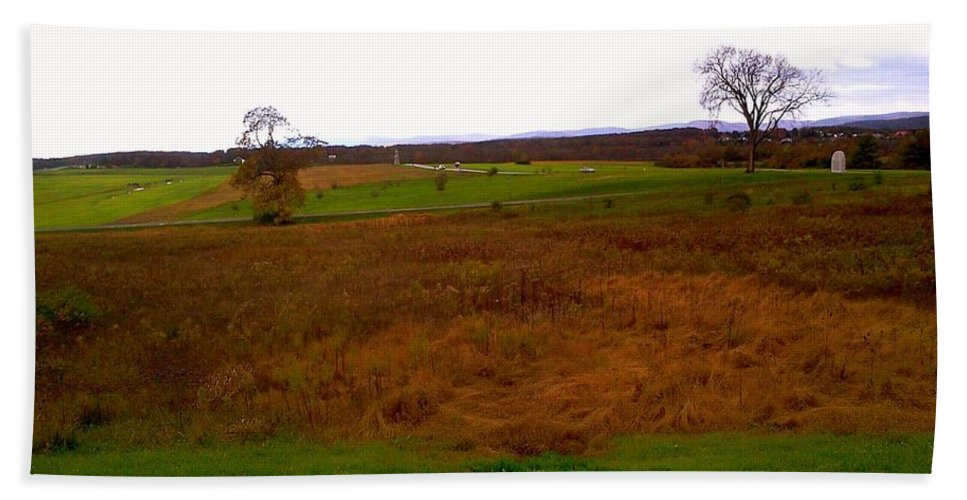 Bath Sheet featuring the photograph The Battlefield Of Gettysburg by Chris W Photography AKA Christian Wilson