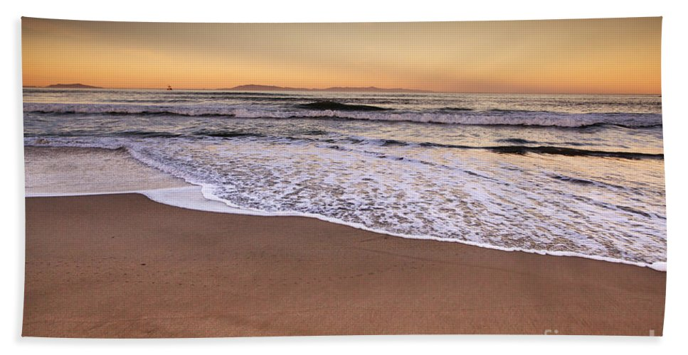 Beach Hand Towel featuring the photograph The Beach by David Millenheft