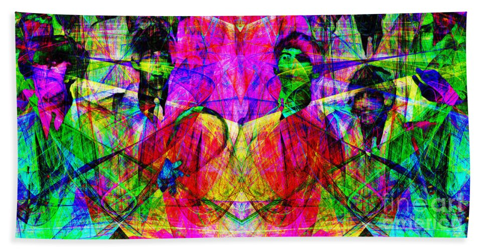 Wingsdomain Hand Towel featuring the photograph The Beatles 20130615 by Wingsdomain Art and Photography