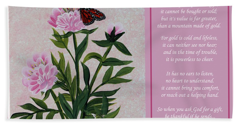 Beauty Bath Sheet featuring the painting The Beauty Of Friendship by Barbara Griffin
