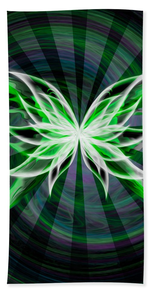 Black Hand Towel featuring the digital art The Beauty Within by Teri Schuster
