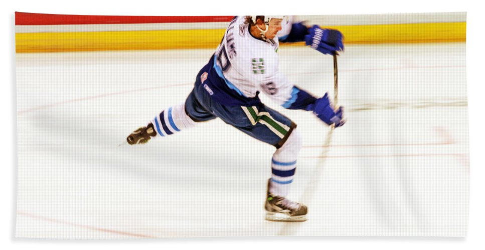 Hockey Bath Sheet featuring the photograph The Bend by Karol Livote