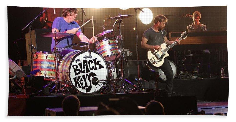 The Black Keys Bath Sheet featuring the photograph The Black Keys by Concert Photos