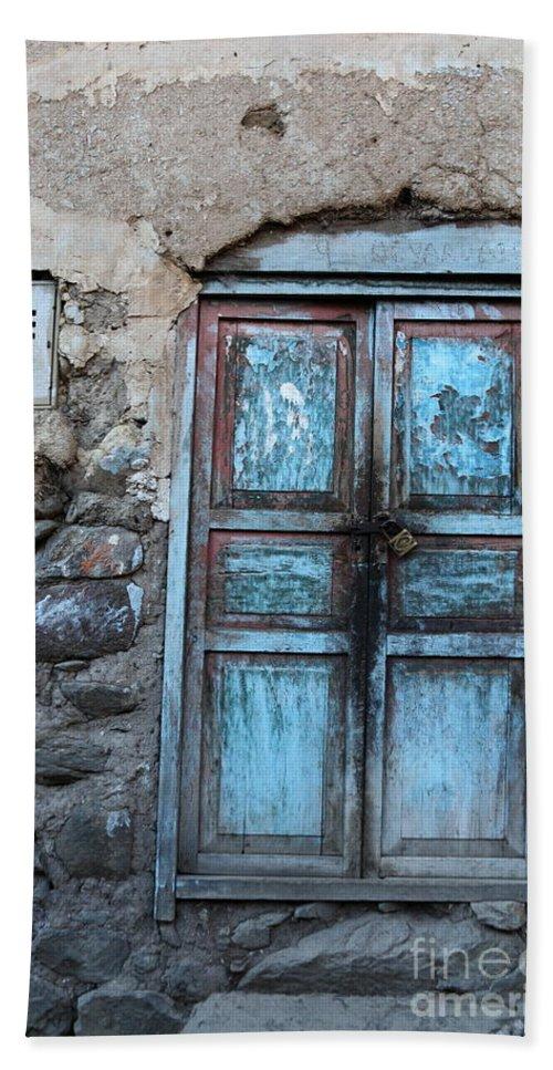 Doors Hand Towel featuring the photograph The Blue Door 1 by James Brunker