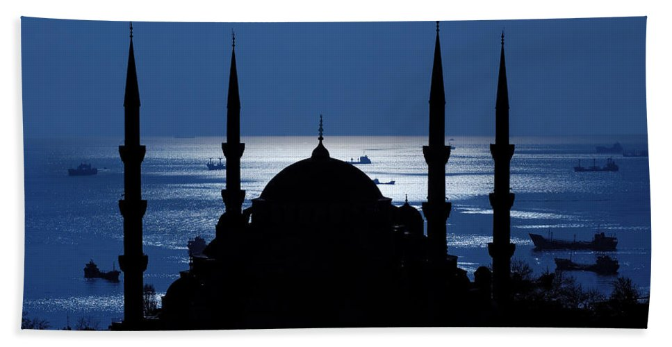 Istanbul Bath Sheet featuring the photograph The Blue Mosque by Ayhan Altun