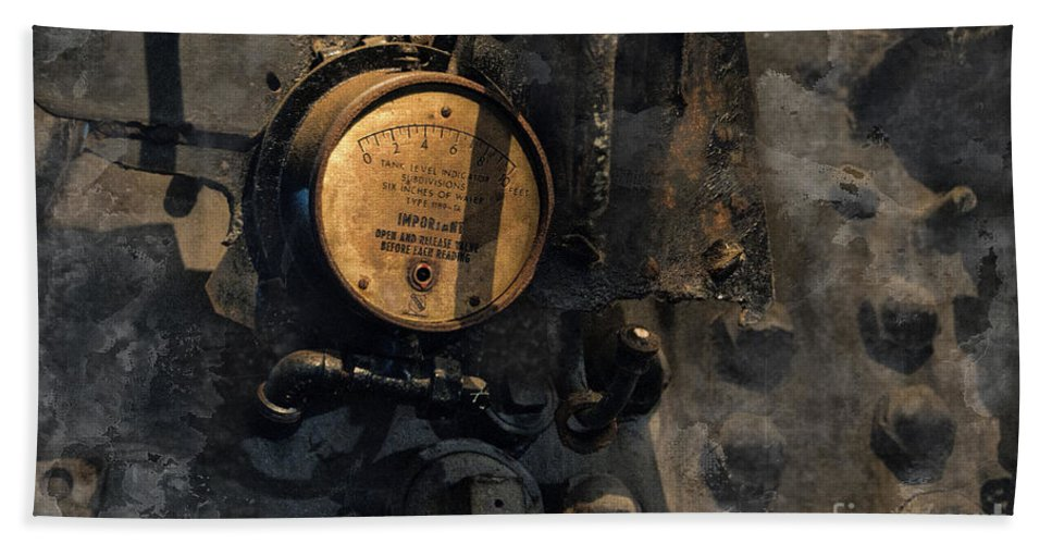 Train Hand Towel featuring the photograph The Boiler Gauge by David Arment
