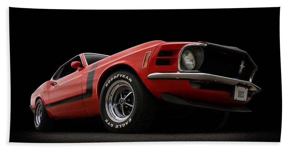 Mustang Bath Towel featuring the digital art The Boss by Douglas Pittman