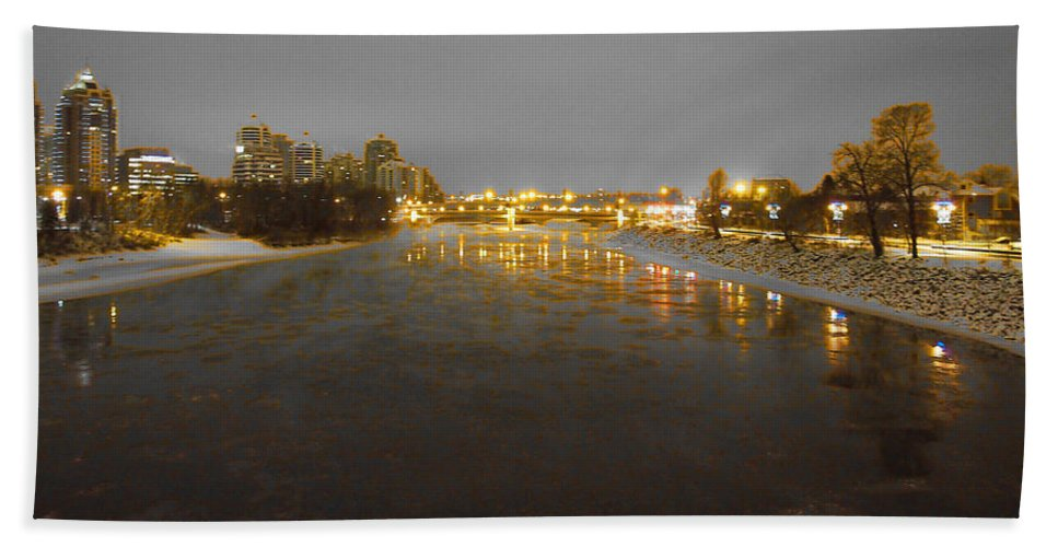Bow River Hand Towel featuring the photograph The Bow River by David Pantuso