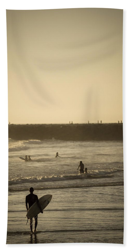 Beach Hand Towel featuring the photograph The Boys Of Summer by Peter Tellone