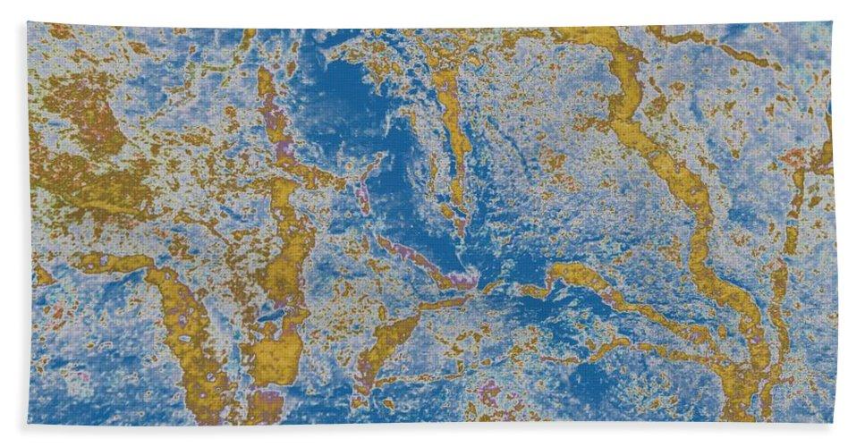 The Breakup Of Pangaea Hand Towel featuring the photograph The Breakup Of Pangaea by Barbara Griffin