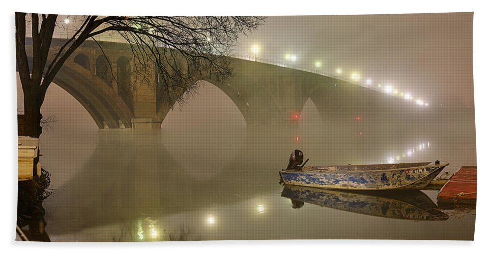 Metro Hand Towel featuring the photograph The Bridge To Nowhere by Metro DC Photography