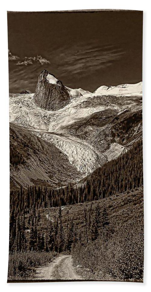 Mountains Bath Sheet featuring the photograph The Bugaboos Monochrome by Steve Harrington