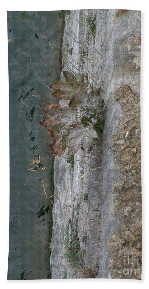 Landscape Hand Towel featuring the photograph The Canal Water by Brenda Brown