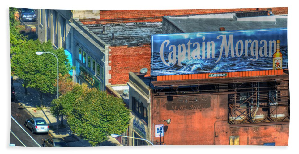 Captain Morgan Bath Sheet featuring the photograph The Captain by Michael Frank Jr